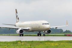 Να μετακινηθεί με ταξί airbus αερογραμμών Etihad A321 Στοκ φωτογραφία με δικαίωμα ελεύθερης χρήσης