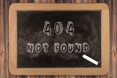 404 - να μην βρεί - πίνακας κιμωλίας Στοκ Εικόνες