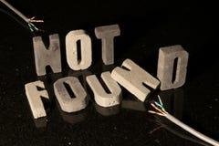 Να μην βρεί το κείμενο για την απώλεια της σελίδας ή του αρχείου στον ιστοχώρο Στοκ φωτογραφίες με δικαίωμα ελεύθερης χρήσης