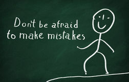Να μην είστε φοβισμένος να κάνει τα λάθη Στοκ Φωτογραφίες