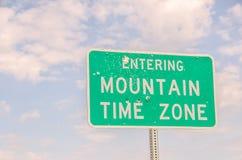 Να μπεί στη διαφορά ώρας βουνών Στοκ Εικόνες