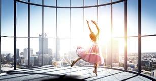 Να ονειρευτεί για να γίνει ballerina Μικτά μέσα στοκ εικόνα με δικαίωμα ελεύθερης χρήσης