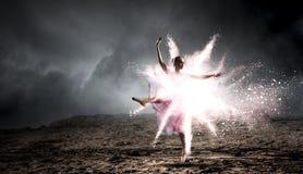 Να ονειρευτεί για να γίνει ballerina Μικτά μέσα στοκ φωτογραφίες