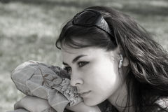 να ονειρευτεί τη γυναίκα Στοκ Εικόνες