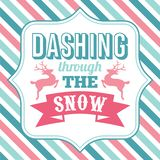 Να ορμήσει μέσω της τέχνης λέξης ρητών Χριστουγέννων χιονιού απεικόνιση αποθεμάτων
