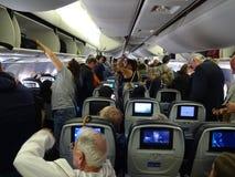 να πάρει από το αεροπλάνο στοκ εικόνα