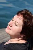 Να πάρει το ήλιος-μαύρισμα Στοκ Εικόνα