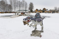 Να πάρει το αρχισμένο πάρκο Yurkin πάρκων δεινοσαύρων Στοκ Φωτογραφίες