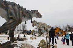 Να πάρει το αρχισμένο πάρκο Yurkin πάρκων δεινοσαύρων Στοκ Εικόνα