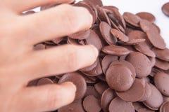 Να πάρει το κουμπί ΙΙΙ σοκολάτας Στοκ Εικόνα