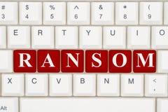 Να πάρει ransomware στο διαδίκτυο Στοκ εικόνα με δικαίωμα ελεύθερης χρήσης