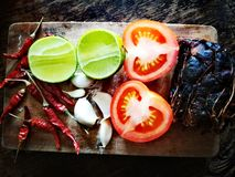 Να προετοιμαστεί για το μαγείρεμα των ταϊλανδικών τροφίμων Στοκ εικόνα με δικαίωμα ελεύθερης χρήσης
