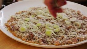 Να προετοιμαστεί carpaccio βόειου κρέατος - κινηματογράφηση σε πρώτο πλάνο απόθεμα βίντεο