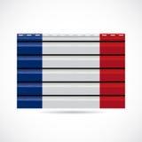 Να πλαισιώσει της Γαλλίας εικονίδιο επιχείρησης προϊόντων απεικόνιση αποθεμάτων