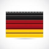 Να πλαισιώσει της Γερμανίας εικονίδιο επιχείρησης προϊόντων διανυσματική απεικόνιση