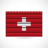 Να πλαισιώσει της Ελβετίας εικονίδιο επιχείρησης προϊόντων ελεύθερη απεικόνιση δικαιώματος
