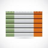 Να πλαισιώσει της Ιρλανδίας εικονίδιο επιχείρησης προϊόντων διανυσματική απεικόνιση