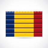 Να πλαισιώσει της Ρουμανίας εικονίδιο επιχείρησης προϊόντων ελεύθερη απεικόνιση δικαιώματος