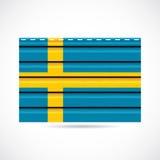 Να πλαισιώσει της Σουηδίας εικονίδιο επιχείρησης προϊόντων διανυσματική απεικόνιση