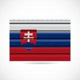 Να πλαισιώσει της Σλοβακίας εικονίδιο επιχείρησης προϊόντων διανυσματική απεικόνιση