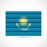 Να πλαισιώσει του Καζακστάν εικονίδιο επιχείρησης προϊόντων διανυσματική απεικόνιση