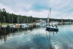 Να πλεύσει με τη θάλασσα Kaunas τα σαββατοκύριακα Στοκ εικόνες με δικαίωμα ελεύθερης χρήσης