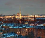 Να στηριχτεί Άγιος-Πετρούπολη κατοικημένο στο υπόβαθρο του Peter Στοκ εικόνα με δικαίωμα ελεύθερης χρήσης