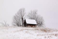 Να στηριχτεί σε μια παγωμένη ημέρα Στοκ Φωτογραφίες