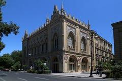 Να στηριχτεί της προεδρίας της Εθνικής Ακαδημίας Επιστημών του Αζερμπαϊτζάν στην οδό Istiglaliyat στοκ εικόνα