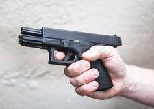 Να στοχεύσει το σωριασμένο πυροβόλο όπλο Στοκ Εικόνες