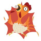 Να συγκλονίσει κινούμενων σχεδίων κοτόπουλο Στοκ Εικόνες