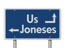 Να συμβαδίσει με το Joneses Στοκ Φωτογραφίες