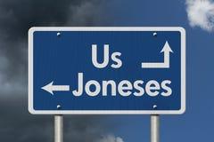 Να συμβαδίσει με το Joneses Στοκ εικόνα με δικαίωμα ελεύθερης χρήσης