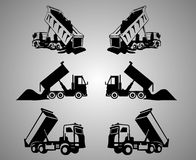 Να τοποθετήσει αιχμή τέχνη συνδετήρων φορτηγών Στοκ Εικόνα