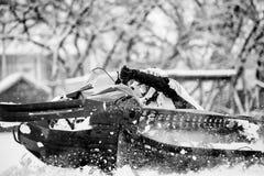 Να τοποθετήσει αιχμή όχημα για το χιόνι Στοκ Εικόνα