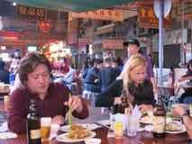 Να φάει και να πιει τη νύχτα την αγορά στοκ φωτογραφίες με δικαίωμα ελεύθερης χρήσης