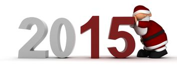 Να φέρει στο νέο έτος Στοκ Εικόνες