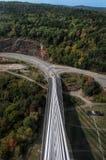 Να φανεί δύση στο Penobscot στενεύει τη γέφυρα στοκ εικόνα με δικαίωμα ελεύθερης χρήσης