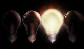 να φλεθεί lightbulb Στοκ Εικόνα