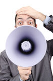 να φωνάξει ατόμων μεγάφωνων Στοκ εικόνα με δικαίωμα ελεύθερης χρήσης