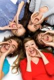 να φωνάξει φίλων Στοκ φωτογραφία με δικαίωμα ελεύθερης χρήσης