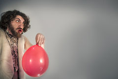 Να φωνάξει Caveman μπαλόνι Στοκ φωτογραφίες με δικαίωμα ελεύθερης χρήσης