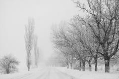 Να χιονίσει πολύ στην πάροδο Στοκ Εικόνες