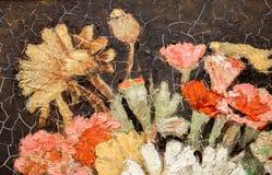 να χρωματίσει ακόμα τη ζωή των λουλουδιών στοκ εικόνες