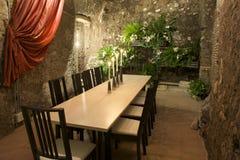 να δειπνήσει δωμάτιο πολ&up Στοκ Φωτογραφίες