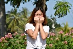 Νεανικό θηλυκό και φόβος Filipina στοκ φωτογραφίες