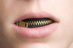 νεανικό φερμουάρ στοματι Στοκ φωτογραφίες με δικαίωμα ελεύθερης χρήσης