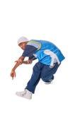 Νεαρός άνδρας ισχίο-λυκίσκου που κάνει τη δροσερή κίνηση Στοκ Φωτογραφία