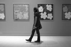 Νεαρός άνδρας στην έκθεση ζωγραφικής - Andy Warhol/Ιστανμπούλ Στοκ Φωτογραφίες