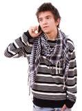 Νεαρός άνδρας στο τηλέφωνο, Στοκ Εικόνες